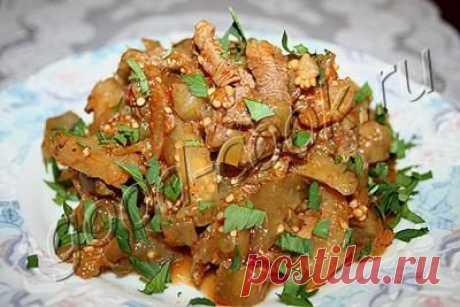 Хорошая кухня - Баклажановый салат с мясом.