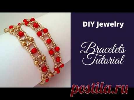 How to make bracelets/Easy beading pattern for beginners/DIY beaded bracelets