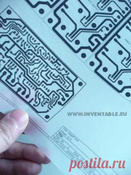 Как сделать печатные схемы ручной работы   inventable