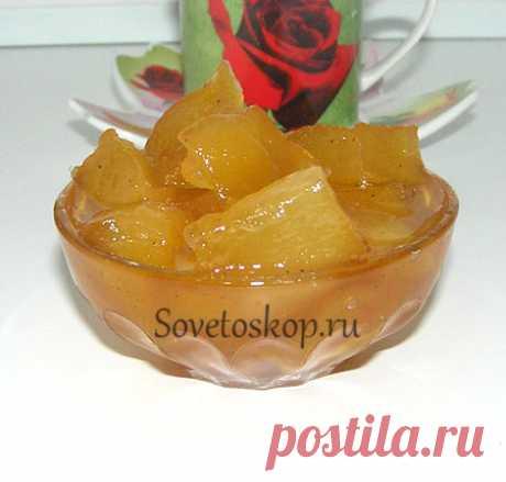 Варенье из дыни и яблок - ароматное лакомство на сайте Советоскоп. ру  Сочетание сладкой дыни и кислого яблока создают довольно неожиданные вкусовые ощущения.