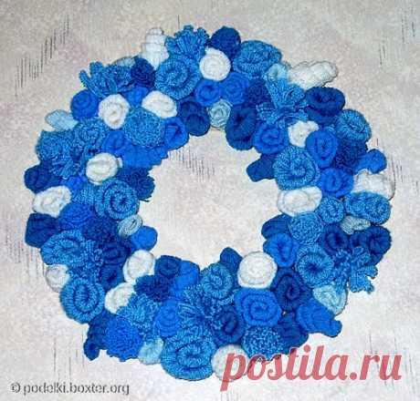 Поделки - Цветы из трикотажа