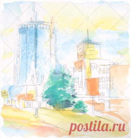 Челябинск | Акварель | Персональная именная сказка | Лес Солнца | Lessolnca.ru