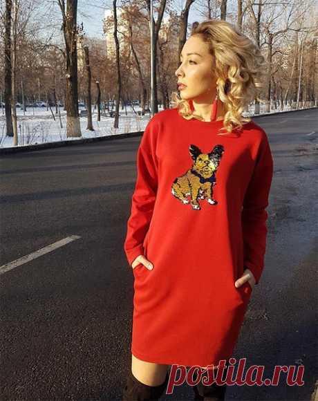 Трикотажное платья с удлиненным плечом #Готовые_выкройки на размеры 40-68 Все размеры в источнике https://materials.tell4all.ru/vykrojka-trikotazhnogo-p..