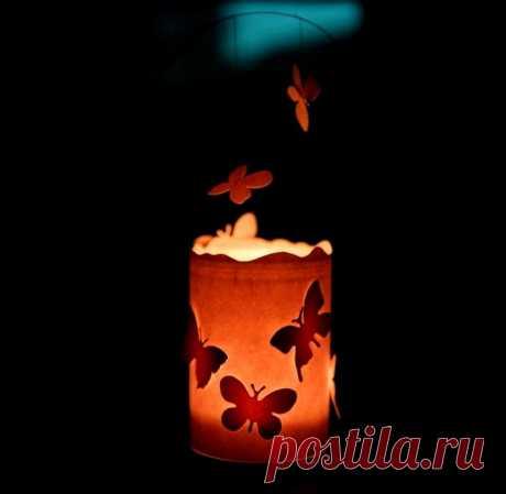 Как сделать светильник «Бабочки» из банки своими руками