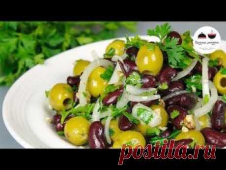 La ensalada en 5 minutos DOS BOTES Sabroso, fácil, magro zakusochnyy salatik a la mesa de Año Nuevo