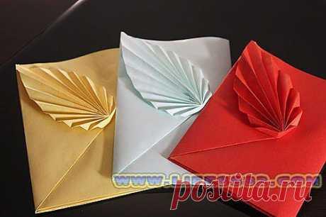 Складываем подарочный конверт