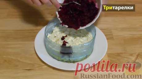 """Рецепт: Слоеный салат """"Овощной торт"""" на RussianFood.com"""