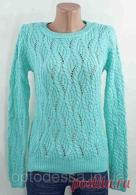 Пуловер красивым узором со схемой. Схема вязания пуловера спицами   Домоводство для всей семьи.
