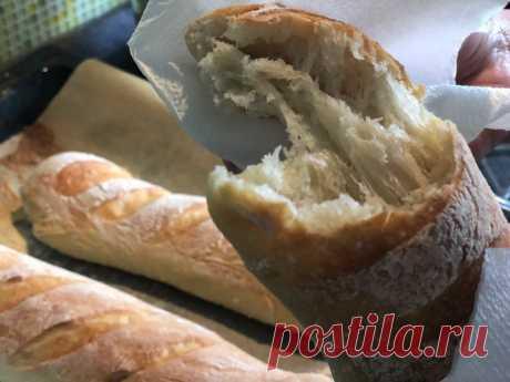 Хрустящий французский багет – Пеку сама, ничего сложного: никакой возни с тестом, в обычной духовке, из простых продуктов - Пир во время езды