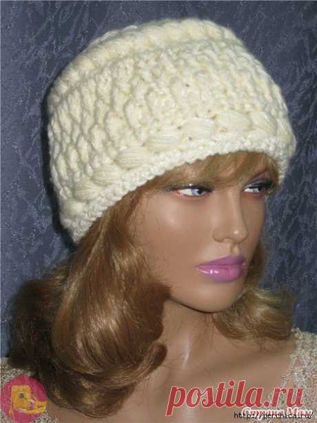 Элегантная шапка крючком для истинных леди — Сделай сам, идеи для творчества - DIY Ideas