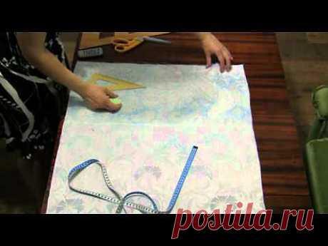 ▶ Как раскроить платье - фартук прямо на ткани - YouTube