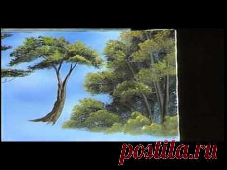 Haba Ross - Aprendemos a dibujar los árboles. (Con la traducción en ruso)