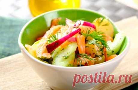 Картофельный салат с копченым лососем – пошаговый рецепт с фото.