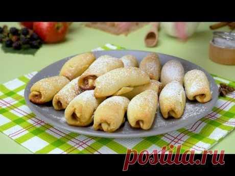 Как испечь рогалики с яблочной начинкой - Рецепты от Со Вкусом