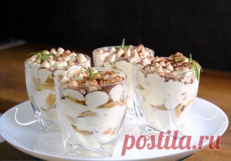 Нежнейший десерт «А-ля Тирамису»! Изысканный вкус из доступных ингредиентов — Кулинарная книга - рецепты с фото