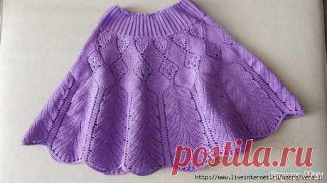 Юбочка для девочки крючком Как связать юбку крючком Вяжем юбочку крючком