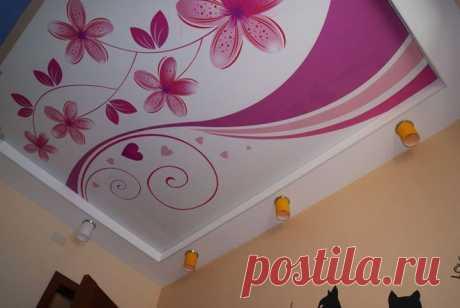 арт потолок - натяжные потолки / Фотогалерея