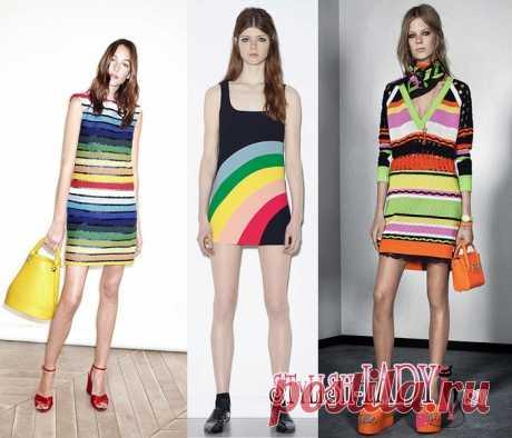 Модные тенденции весна - лето 2016, полный фото - обзор цвета радуги