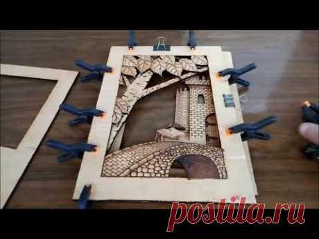 #3D КАРТИНА #СВОИМИРУКАМИ   Картина из фанеры, контурно-прорезная резьба, нихромовой проволокой, 3Д.