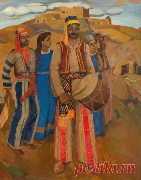 Հարությունյան Հրաչյա Հարությունի (1936 - 1989) Աշնակ. Սասունցիների պարը (1970),կտավ, յուղաներկ 175x142 սմ Տեղագրություն:Ֆոնդապահոց