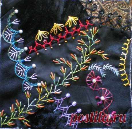 Вышивка: декоративные швы