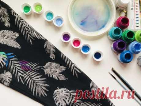 12 советов по росписи одежды акриловыми красками | Журнал Ярмарки Мастеров