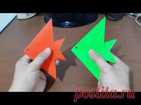 Cara Membuat Origami Ikan Layang Layang