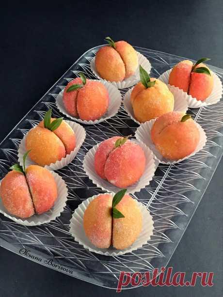 """Кулинарные моменты: Пирожное """"Персики"""""""