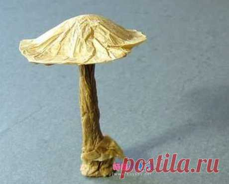Method of origami the textbook VincentFloderer mushroom plant _ _ Origami Origami the Manual - the sun of drying of paper art of a network