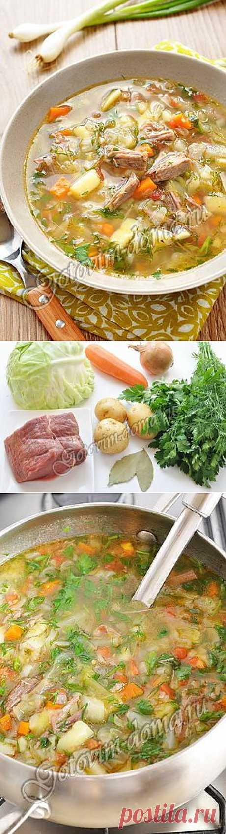 Рецепт: Щи из свежей капусты (летние)