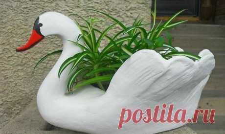 La abuela me ha enseñado a hacer los cisnes de jardín. ¡Adivinaréis nunca, de que! \u000d\u000aMi abuela adora cuidar el jardín y hace a menudo para él adornamientos diferentes. Cuando llegaba a ella la vez pasada, ha notado un par de los cisnes encantadores.\u000d\u000aIba a hacer el estanque, pero …
