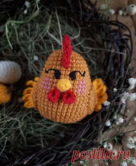 Вязаная курочка Ко-Ко крючком | Амигуруми