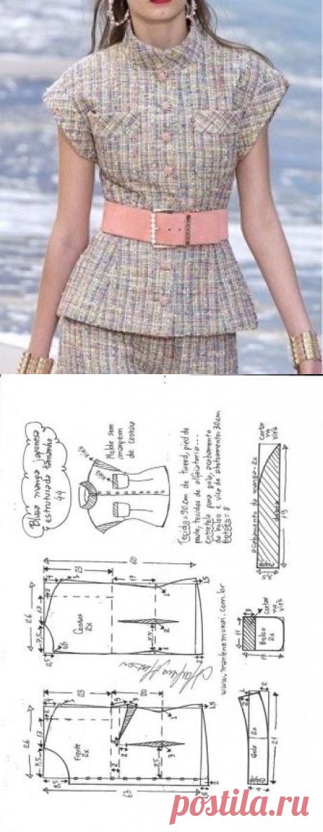 Blusa manga japonesa estruturada | DIY - molde, corte e costura - Marlene Mukai