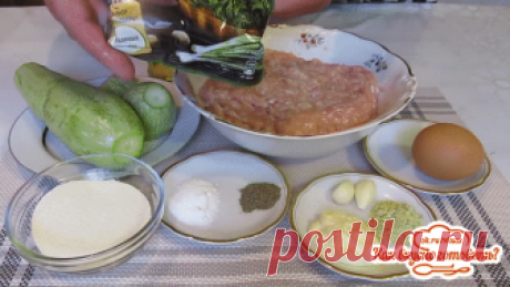 Нежные, пышные, ароматные котлетки с кабачками Котлетки получаются мягкие и при этом сочные, вкус потрясающий