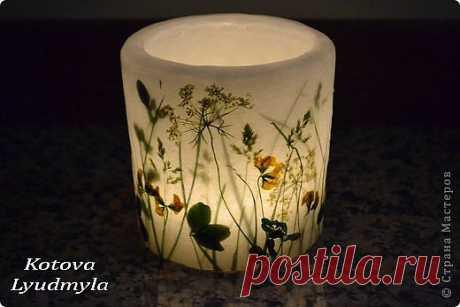 Свечи с полевыми цветами