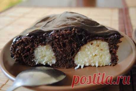Как приготовить шоколадный пирог с творожными шариками! - рецепт, ингредиенты и фотографии