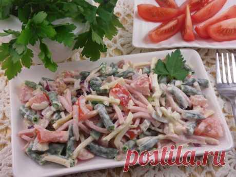 Салат с ветчиной и стручковой фасолью — Sloosh – кулинарные рецепты