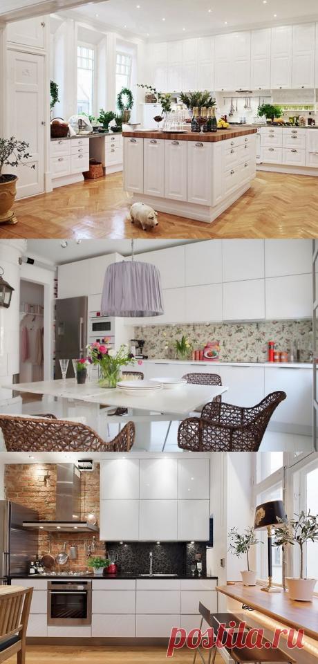 Современные кухни белого цвета — Идеи ремонта