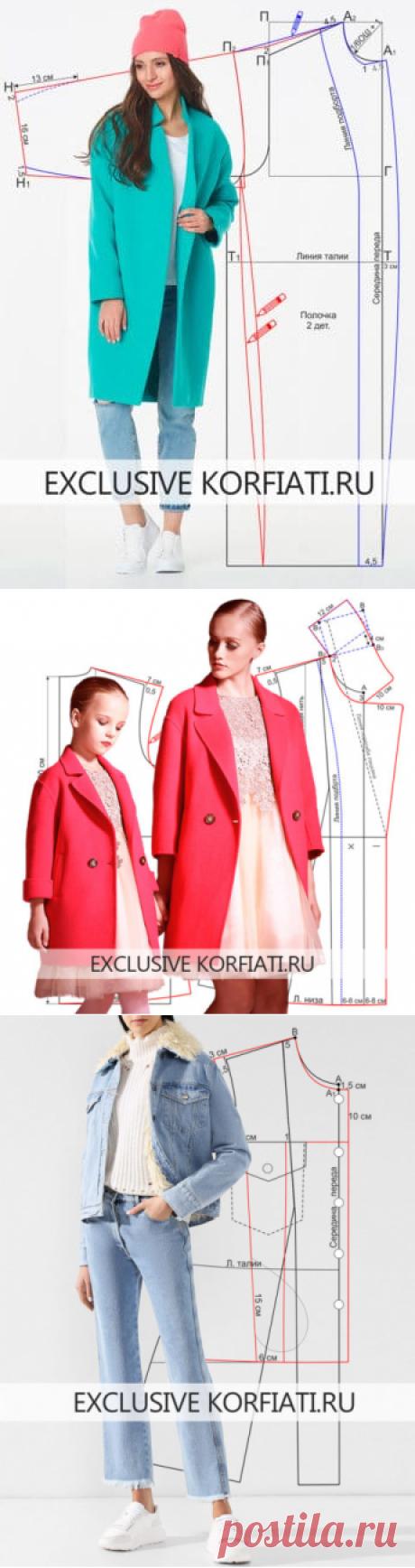Выкройки пальто для женщин от Школы Шитья Анастасии Корфиати