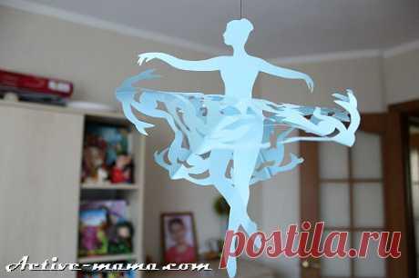 Снежинка-балерина из бумаги: шаблоны для вырезания | Активная мама