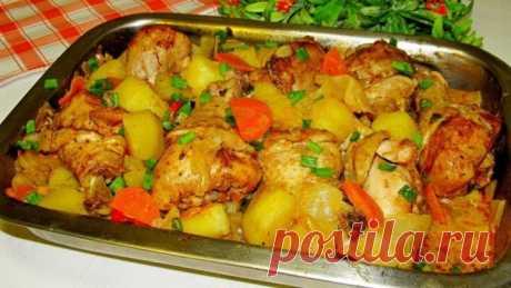 Куриные голени с овощами. Когда совсем нет времени!