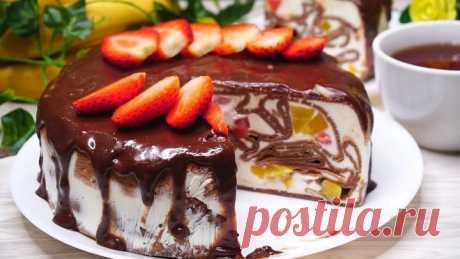 БЕЗ ДУХОВКИ. Обалденный Торт Шоколадный!