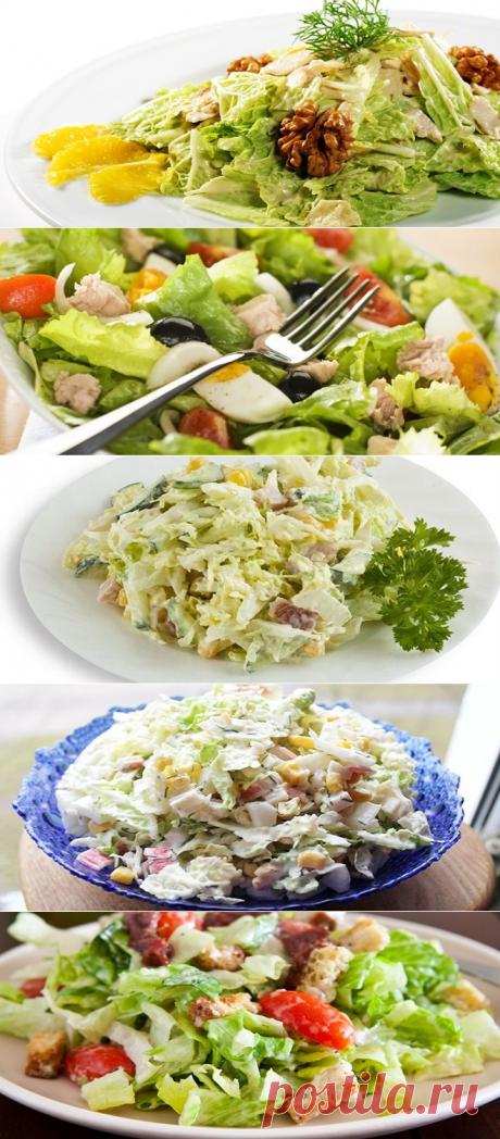 Оригинальные рецепты салатов из пекинской капусты