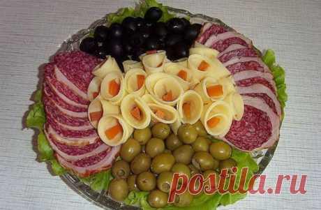 Красивая нарезка колбасы и сыра - как красиво нарезать и разложить колбасу и сыр (Фото) | Умница-Красавица