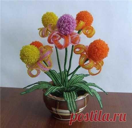 Оригинальные цветы из бисера — DIYIdeas