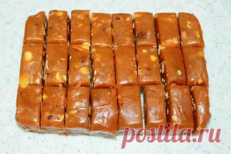 Домашние конфеты из сметаны и сахара