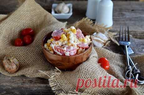 Салат помидоры кукуруза сыр рецепт с фото пошагово - 1000.menu