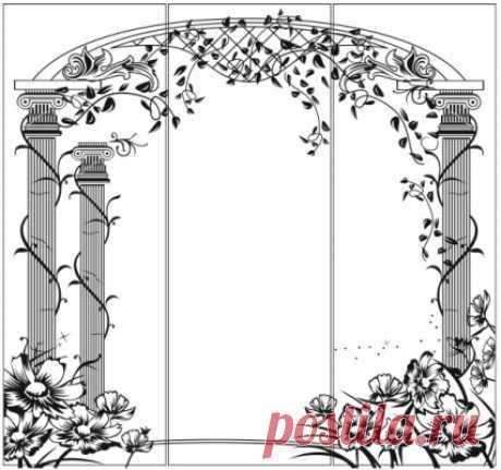 El dibujo peskostruynyy de la Columna