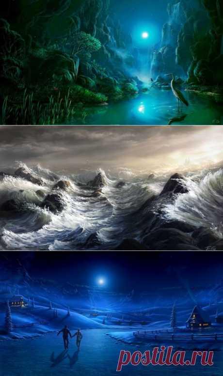 Таинственные и волшебные картины от художника Fel-X.