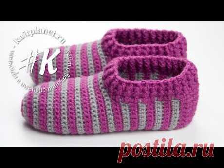 Knitting of slippers hook